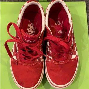 Boys Red Vans❤️